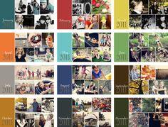 SIMPLE layout deas for annual family calendar Yearbook Layouts, Yearbook Design, Family Yearbook, Family Album, Shutterfly Books, Baby Photo Books, Photo Album Book, Project Life, Album Design