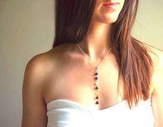 Petit Gold Chakra Necklace Yoga Gift 7 Chakra Pendant by terrabryn