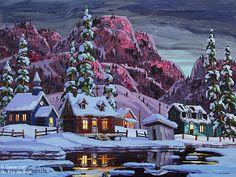 Vladimir Horik, 'Samedi soir en Charlevoix', 12'' x 16'' | Galerie d'art - Au P'tit Bonheur - Art Gallery