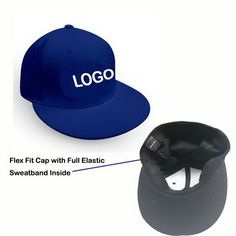 Flex fit Hat with embroidered logo. it is a necessary promotional item for  hot… Superpromostuff · Custom Flat ... da7d7fc7a4b2