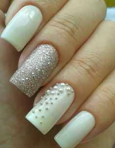 35 Simple Ideas for Wedding Nails Design Cute Nails, Pretty Nails, Beauty Hacks Nails, Wedding Nails Design, Creative Nails, Nail Arts, Girly Things, Pedicure, Hair And Nails