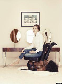 Garage Magazine Editor-In-Chief Dasha Zhukova Sits On A 'Black Woman' Chair In Shocking Editorial