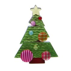 """Erstwilder Limited Edition Tis The Season Brooch. """"What could be more wondrous than a Christmas morn, unwrapping your presents at the crack of dawn? Jewelry Christmas Tree, Christmas Ornaments, Christmas Clothes, Christmas Themes, Holiday Decor, Secret Santa, Tis The Season, Yule, Kitsch"""