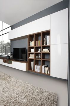 The Perfect TV Wall Ideas That Will Not Sacrifice Your Look – 09 – Typical Miracle Living Room Tv Cabinet, Living Room Wall Units, Living Rooms, Wall Unit Designs, Tv Stand Designs, Tv Cabinet Design, Tv Wall Design, Tv Wanddekor, Tv Wall Cabinets