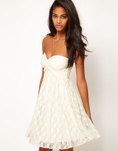 ASOS Strapless Lace Dress