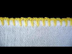 Caseado favo de mel para crochê em tolhas - YouTube
