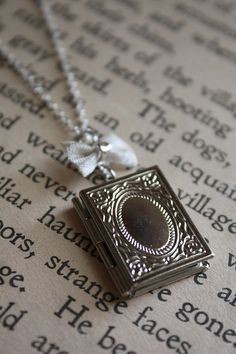Book Locket Necklace - Victorian Inspired - Pride and Prejudice - Book Diary Locket - Jane Austen on Etsy, $18.00