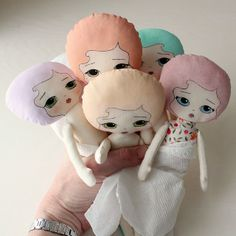painted cloth dolls | Flickr - Photo Sharing!