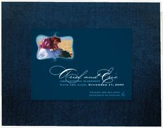 $2 Ariel + Eric Save the Date- Set the mood for a luxurious waterfront, ocean or beach wedding (complete with a photo of the new bride- and groom-to-be) with the Ariel + Eric save the date card.