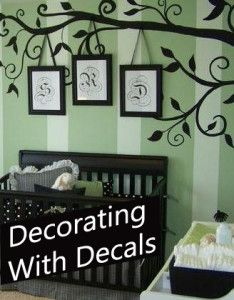 Nice touch! I have a perfect spot for this concept... My Fall project idea; In time for Christmas.                                      Decorating with Decals - Family Photos.