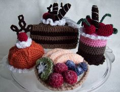 Fancy Cakes and Tarts...PDF Crochet Pattern by KTBdesigns on Etsy, $6.00