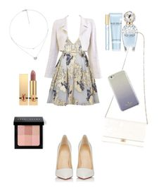 """""""the modern reanissance"""" by xabithavanessa on Polyvore featuring Notte by Marchesa, Chanel, Folli Follie, Yves Saint Laurent, Bobbi Brown Cosmetics, Marc Jacobs, Kate Spade, Christian Louboutin and modern"""