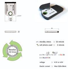 ¿Sin batería en el teléfono móvil? Pues dale vueltas  Esta solución a la falta de batería en situaciones difíciles, alejados de la red eléctrica, es muy imaginativa.
