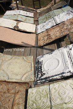 Prepping Antique Ceiling Tin - Living Vintage