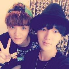 ❤예성❤ 28 May '14: Bro. Luhan & Yesung ^^ #mouserabbit cr: instagram/yesung1106