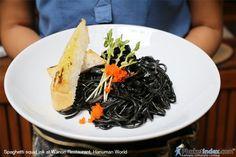 Spaghetti squid ink  #photooftheday #Phuketindex #Phuket #Thailand#relax #chill#delicious #food #breakfast #lunch #dinner #WanonRestaurant #HanumanWorld #SpaghettiSquidInk #Spaghetti #SquidInk
