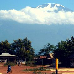 #Kilimanjaro floating above rural Tanzania
