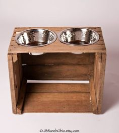 Elevated Dog Bowl / Pet Feeder / Dog Bowl by RESCUEPetProducts