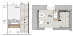 Design Bathroom, Bathroom Ideas, Toilet Plan, Architectural Floor Plans, Interior Inspiration, Laundry, Layout, Graphics, Flooring