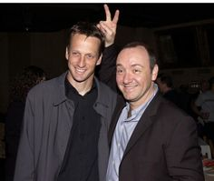 Kevin Spacey with Tony Hawk, May 5, 2002