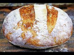 Crusty No-Knead Artisan Bread | How to make no-knead bread - YouTube