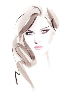 Lady fashion illustration by Christian David Moore