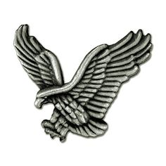 PinMart's Soaring American Antique Silver Eagle Jewelry Lapel Pin.More info for rings for women;crystal brooch;crystal pins;small brooch;christmas pins could be found at the image url.(This is an Amazon affiliate link and I receive a commission for the sales)