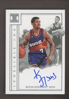 a9df624321b 2017-18 Panini Impeccable Indelible Ink Kevin Johnson Signed AUTO 31/99