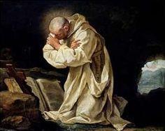 San Bruno Rezando en el Desierto, Pintura del 1763.