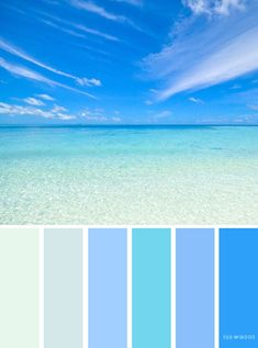 Find wedding color inspiration for every season winter hues summer wedding color schemeautumn wedding color palettewedding color schemes inspired by landscape Beach Color Palettes, Blue Colour Palette, Blue Color Schemes, Bathroom Colors Blue, Bedroom Colors, Blue Bedroom, Trendy Bedroom, Rgb Palette, Summer Wedding Colors