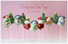 Christmas Wonderland Cake Pops by niner bakes via Flickr.