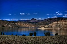 Blue Mesa Reservoir, near Gunnison, CO   Bluest water I've ever seen in Colorado.
