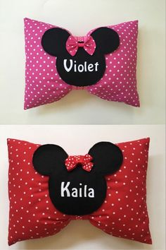 Personalized Pink or Red Minnie Mouse Bow by IttyBittyAllBoutique