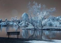 Santee Lakes on the Winter Solstice With Sun Flare - Infrared | Flickr - Photo Sharing!