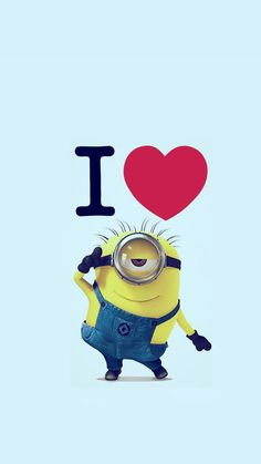 I love minion Despicable Me iphone 6 wallpaper for 2014 Halloween