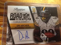 2014 Prestige Road to the NFL Signatures #34 DRI ARCHER AUTO MINT FROM PACK #Prestige #ChicagoBears
