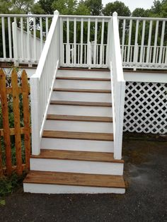 New Deck, Deck Design, Types Of Wood, White Trim, Decking, Landscaping Ideas, Home Remodeling, House Ideas, Stairs