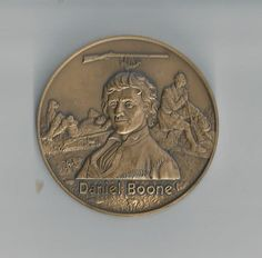 1979 Daniel Boone Mo-Pac Bronze Medal by COLLECTORSCENTER on Etsy