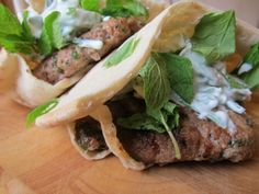 Dinner for Two: Greek Lamb Burger with Chunky Mint Tzatziki