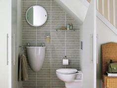 downstairs toilet utility room under stairs ile ilgili görsel sonucu Compact Bathroom, Small Space Bathroom, Laundry In Bathroom, Tiny Bathrooms, Bathroom Modern, Bathroom Storage, Bathroom Under Stairs, Downstairs Toilet, Downstairs Cloakroom