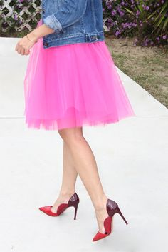 Pink tulle skirt from Space 46 Boutique