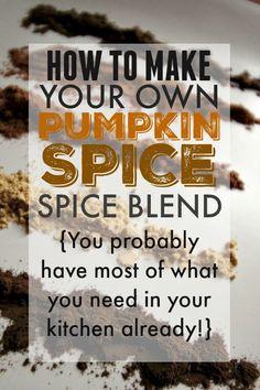 DIY pumpkin spice! D