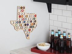State Beer Cap Maps by The Grommet