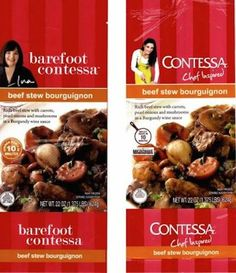 """BAREFOOT CONTESSA SUING CALIFORNIA COMPANY OVER UNAUTHORIZED """"CONTESSA CHEF INSPIRED"""" FROZEN DINNERS (The packaging is shockingly similar. Actually it's virtually identical.)"""