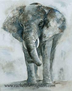 Elephant art painting Large Elephant fine art PRINT SET Elephant PRINT art toddler wall art Tiger orange gray grey blue brown boy 11x14. $42.00, via Etsy.