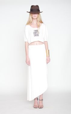 Dimepiece I Want Control Graphic Cropped Top - Skinny Bitch Apparel