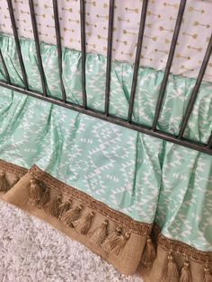 Orange and Grey Arrowhead, Mint Aztec, Burlap, Ivory with Gold Arrows, and Tan Plaid Crib Bedding Baby Boy Bedding, Crib Bedding, Orange Bedding, Baby Design, Bed Sheets, Valance Curtains, Aztec, Cribs, Color Pop
