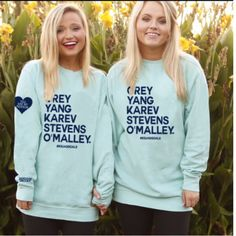 **PREORDER** NEW COLOR #Squad Goals - Grey's Anatomy You Are My Person Sweatshirt by Jadelynn Brooke