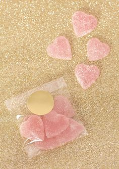 Homemade heart gumdrops