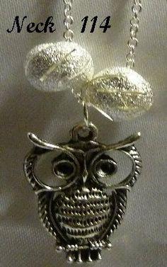 Necklace Owl #Neck114